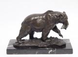 Бронзовая статуэтка - Медведя за охотой
