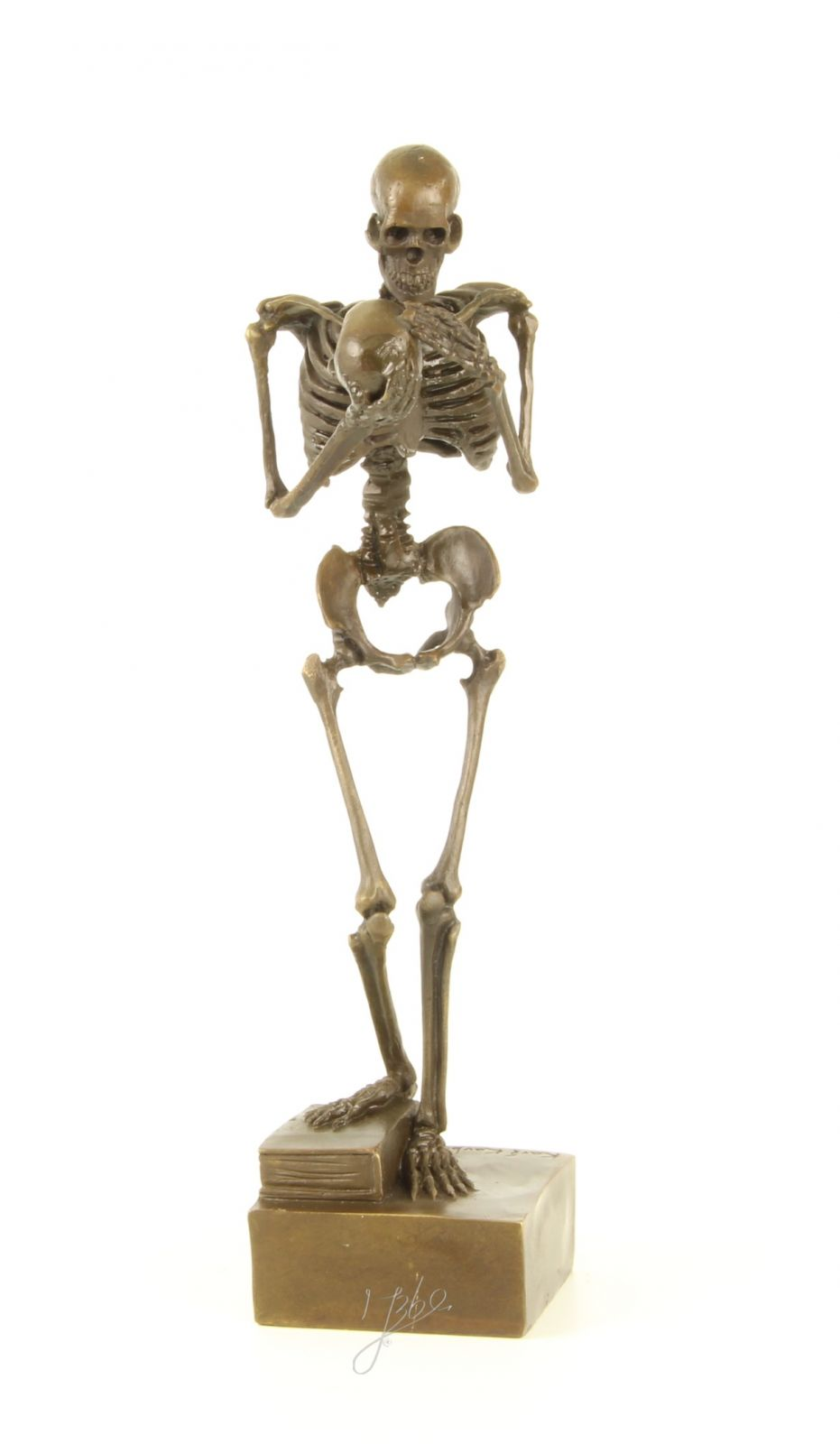Бронзовая фигура скелета BrokInCZ