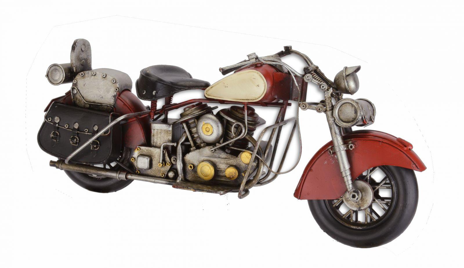 Модель красного мотоцикла BrokInCZ