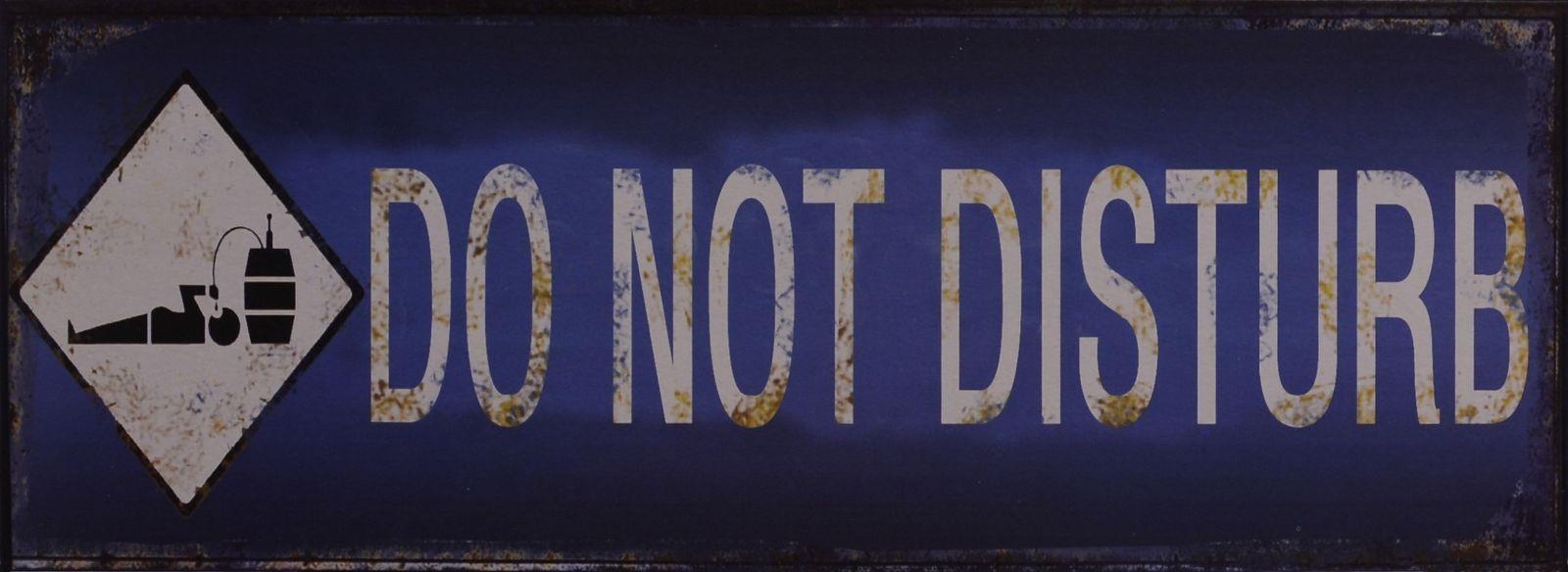 Ретро жестяная вывеска - DO NOT DISTURB BrokInCZ
