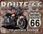 Ретро жестяная вывеска - HISTORIC ROUTE 66