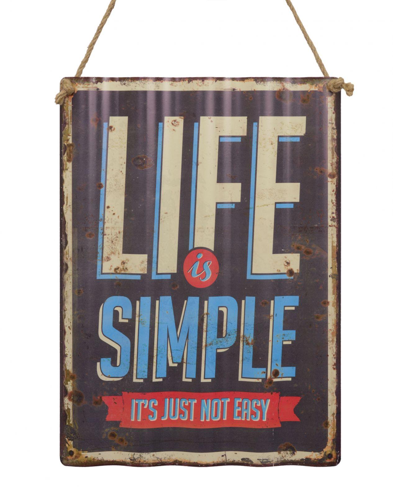 Ретро жестяная вывеска - LIFE IS SIMPLE BrokInCZ