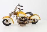 Металлическая модель желтого мотоцикла BrokInCZ
