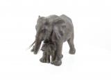 статуэтка - Слониха со слонёнком 1