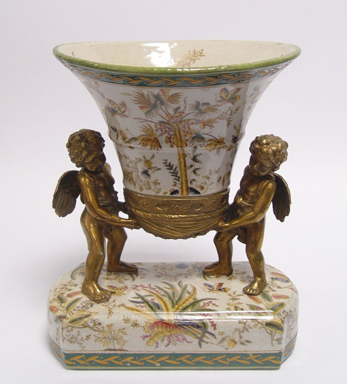 a Vase with angels made of porcelain BrokInCZ