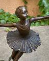 Бронзовая статуэтка балерина BrokInCZ