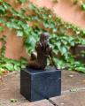 Бронзовая статуэтка полуобнаженной девушки BrokInCZ