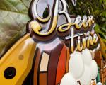 Ретро жестяная вывеска - BEER TIME BrokInCZ