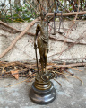 Малая скульптура Правосудия - Фемиды из бронзы