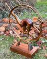 Статуя Гимнастки на деревянной основе из бронзы