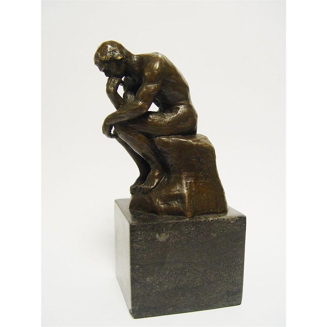 Фигурка Мыслитель Огюста Родена из бронзы
