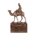 Бронзовая статуэтка - Верблюд и наездник