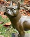 Статуя Французского бульдога из бронзы
