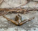 Эротическое бронзовое пресс-папье сексуальной обнаженной женщины