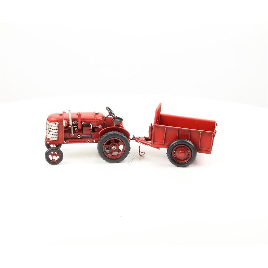 Металлический трактор с прицепом
