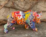 Фигурка графического носорога из полирезина