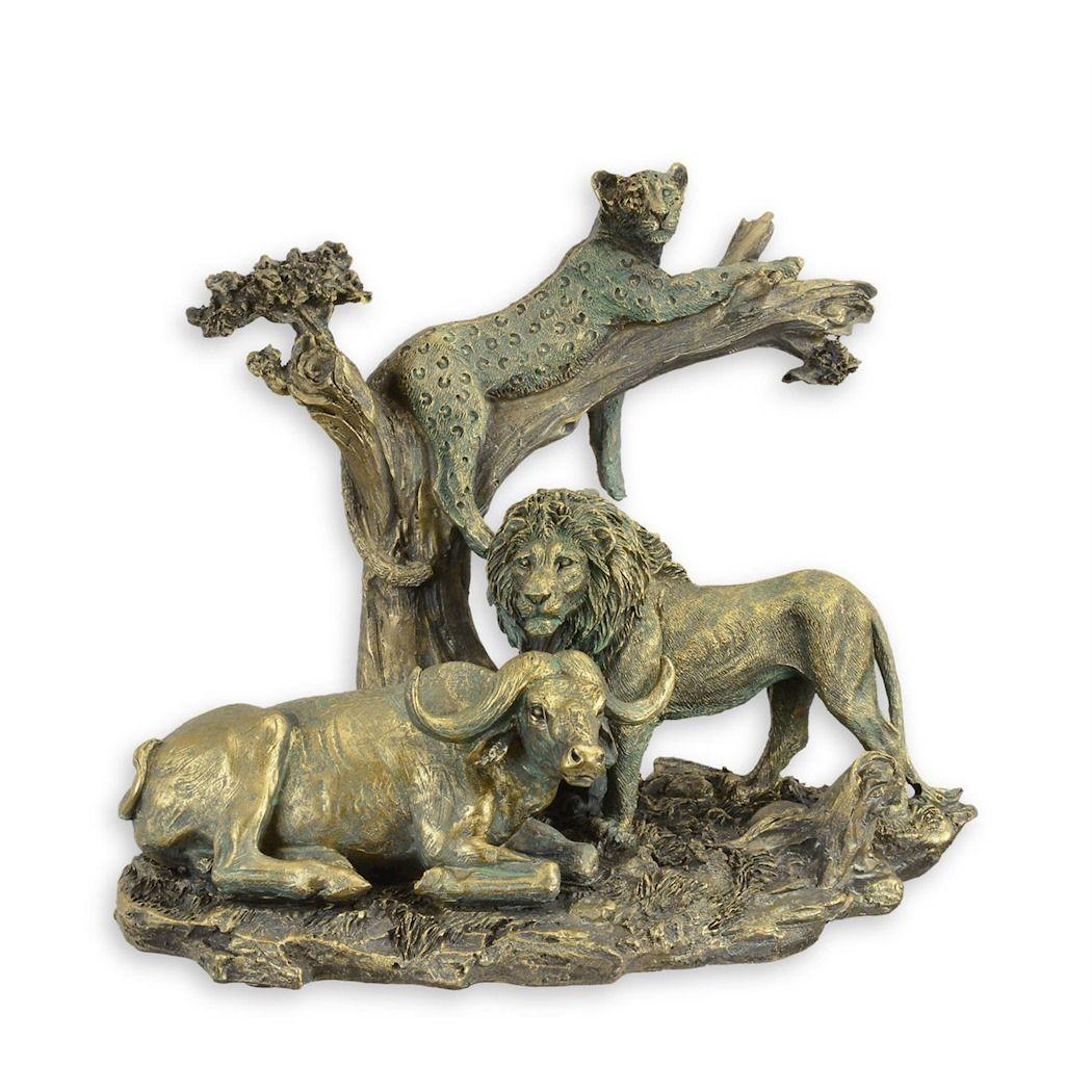 Статуэтка льва, пантеры, буйвола из полирезина