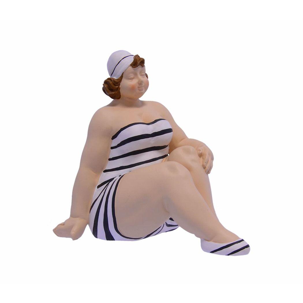 Статуя женщины в купальнике размер плюс из полирезина