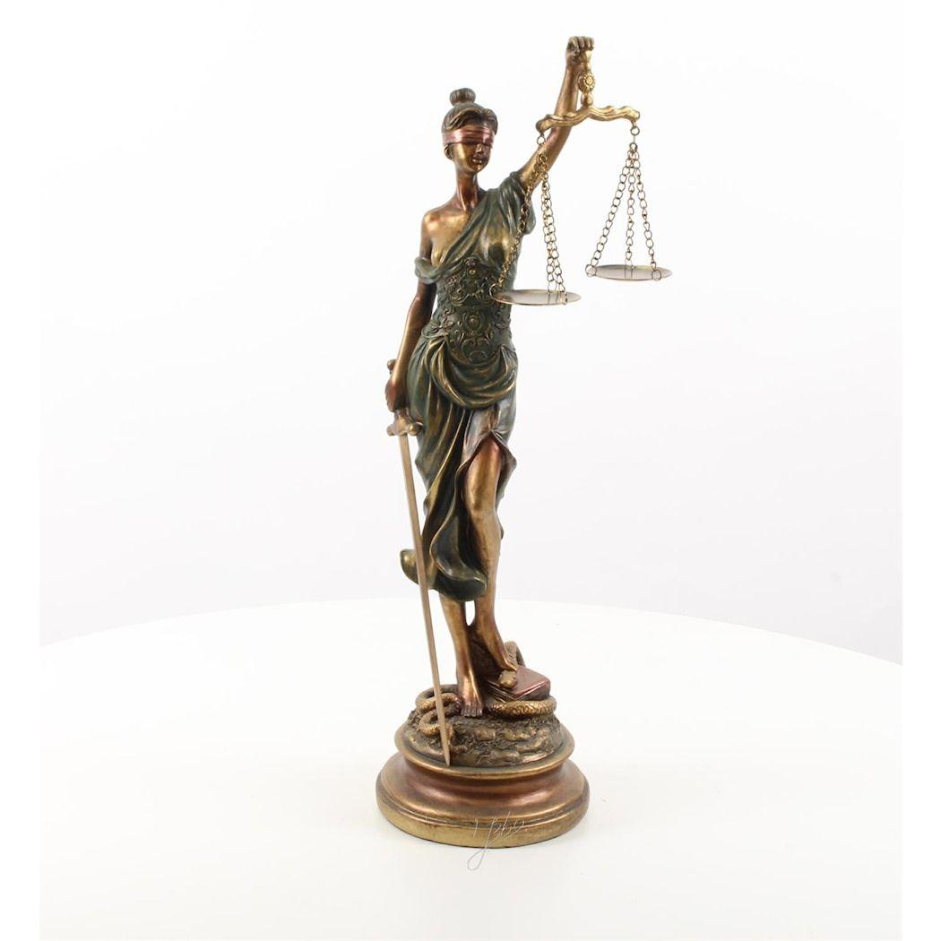 Статуя женщины - Правосудия - Фемида из полирезина