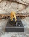 Фигурка ягуара из бронзы