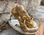 Фарфоровый бык и леопарды