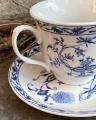 Пара фарфоровых чашек и блюдцев - гжель