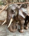статуэтка - Слониха со слонёнком